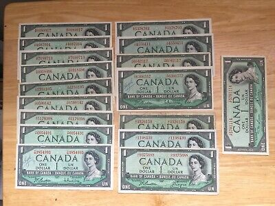 1954 Modified Canadian bank notes  FACE VALUE $17 LOOK at Pictures