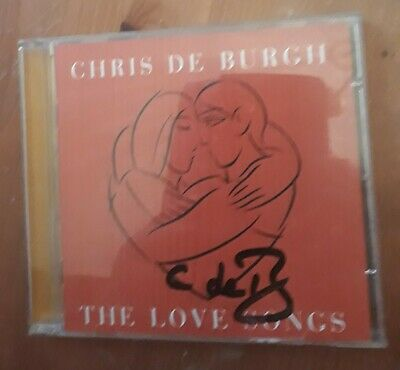 "Chris de Burgh ""The Love Songs"" CD Signed on front cover insert"