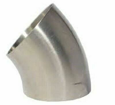 45 Degree 3A SHORT Elbow Stainless Steel Dull Polish Pipe Bend Exhaust Mandrel