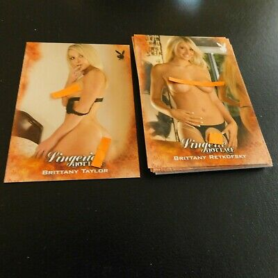 Non Sport Trading Cards 15 Different Playboy Lingerie Hot Lace(D)