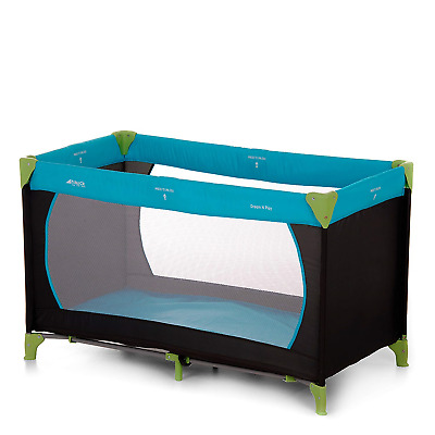 Hauck Dream'n Play, Travel Cot 120 x 60 cm from Birth to 15 kg, 3-Part Travel