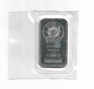 """(1 oz.) SILVER BAR *SUNSHINE MINT* .999 pure """"FINE"""" Silver SEALED PACKAGE """"INVES"""