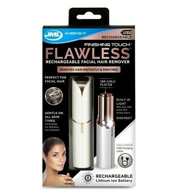 Jml Finishing Touch Flawless - Rechargeable Facial Hair Remover - Brand New -Usb