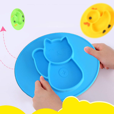 Non Slip Silicone Baby Placemat for Baby Led Weaning Strong Suction Baby Plate
