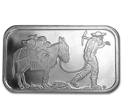 Donkey Prospector 1 TROY OZ  SILVER BAR  From SilverTowne