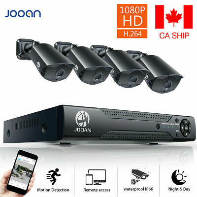 JOOAN 8CH 5IN1 DVR XVR NVR 1080P Security Camera System IR Cut Surveillance Kit
