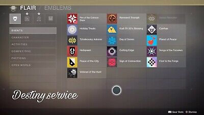 Destiny 2 Emblem - Cutting Edge, Sign of Connection and +[PS4/XBOX/PC] Read