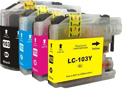4PK LC103XL LC103 Ink NON-OEM for Brother MFCJ650 J6520 J6720 J6920 MFC-J450