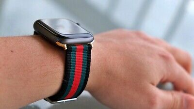 New Designer Apple watch band GG iwatch strap for series 1/2/3/4 Black Green Red