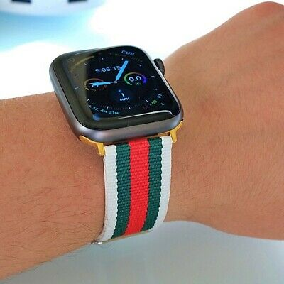 New Designer Apple watch band GG iwatch strap for series 1/2/3/4 White Green Red