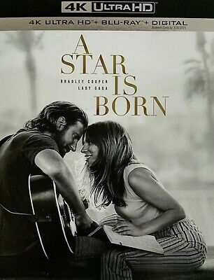 A Star Is Born(4K Ultra Hd+Blu-Ray+Digital)W/slipcover New Factory Sealed