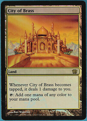 City of Brass FOIL 8th Edition HEAVILY PLD Land Rare CARD (ID# 60141) ABUGames
