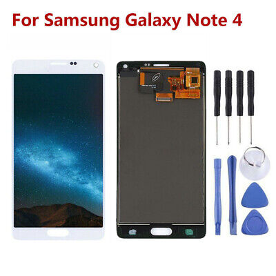 LCD Display Touchscreen Digitizer für Samsung Galaxy Note 4 weiß RHN02