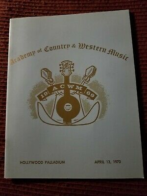 Academy Of Country Music Program 1970