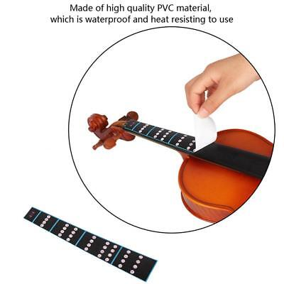 VIOLIN FINGERBOARD STICKER Guide Notes Learning Marker 1/2 1
