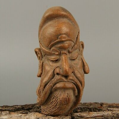 Chinese Exquisite Hand-carved Guan Yu Carving bamboo statue