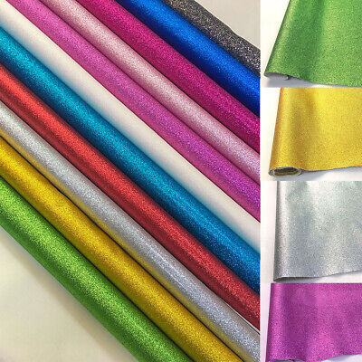 FINE Glitter Leather Fabric Sparkly Synthetic For Handmade Bag Shoe DIY Material
