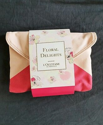 NEW L'Occitane Floral Delights Cherry Blossom Gift Cosmetic Pouch