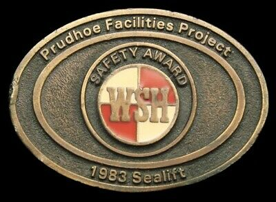 Pd10167 Great 1983 **Wright,Schuchart,Harbor** Prudhoe Bay Award Oilfield Buckle