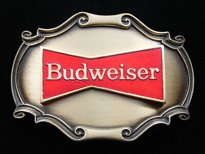 Rd11143 *Nos* Vintage 1978 **Budweiser** Beer Advertisement Belt Buckle