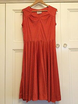 Vintage Ladies Short Sleeve Dress By Johnathan Summers Size 16 ( Waist 75cm) 10?