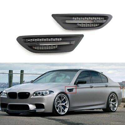 2x Matte Black Side Fender Grill Cover Vent Fit Bmw 5 Series F10 Sedan M5 11 16