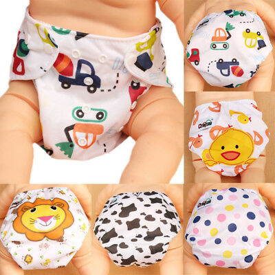 Reusable Baby Infant Nappy Cotton Cloth Diapers Soft Covers Washable Adjustable