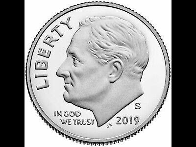 2019-S Clad PROOF ROOSEVELT DIME GEM DEEP CAMEO COIN