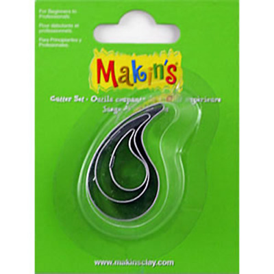 Makins Clay & Cookie Cutters - WATERDROP (Set of 3) cake Fondant