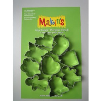 Makins Clay & Cookie Cutters - EVERYDAY CUTTER SET (Set of 9)