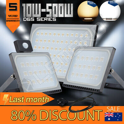 LED Flood Light 10W 20W 30W 50W 100W 150W 200W 300W 500W PIR Sensor/AU PLug/240V