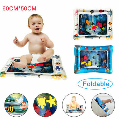 Inflatable Water Play Mat Infants Toddlers Fun Tummy Time Play Activity Center U
