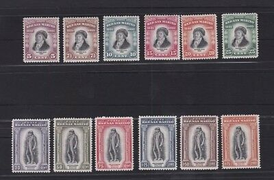San Marino Stamps, 1935, Death of Delfico, sassone 193-204, sc 169-180, mh/og