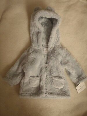 c0ade239a NWT  30 CARTERS Baby Boy or Girl White Hooded Sherpa Zip-Up Bear ...