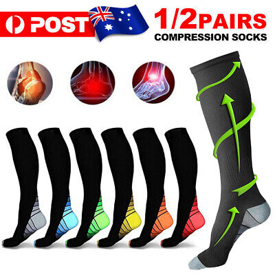 15-30mmHg Compression Socks Medical Stockings Travel Flight Sports Leg Sleeve TS