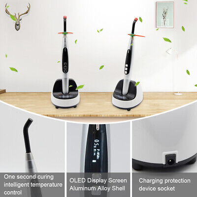 1 Second Dental LED Curing Light Lamp JAS-2002 DC5V 9W 2300mw/cm2