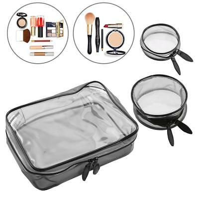 Lady Clear Plastic PVC Travel Bag Make Up Toiletry Zipper Cosmetic Pouch HOT