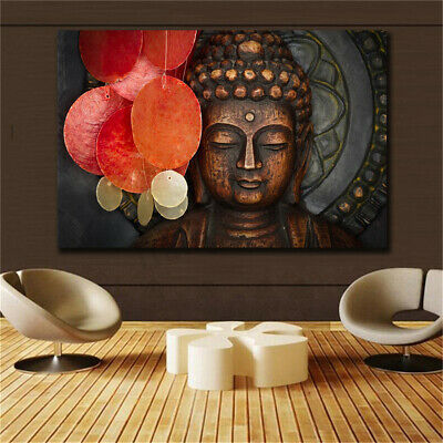 Buddha Statue Meditation Art Prints Canvas Painting Wall Home Office Wall Decor