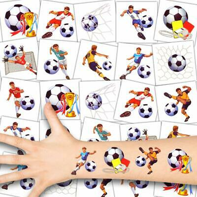 German Trendseller® 36 x Fußball Kinder Tattoos - Set - Fußballer Party Soccer