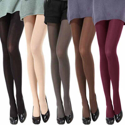 Fashion Women Thick Stockings Pantyhose Tights Opaque Long Footed Socks Candy