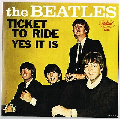 TICKET TO RIDE b/w YES IT IS Beatles Vinyl 45 w/ PS Record Store Day 2011 MINT