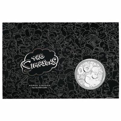 2019 Tuvalu $1 Homer Simpson 1oz Silver Coin in Card (Mintage 1000)