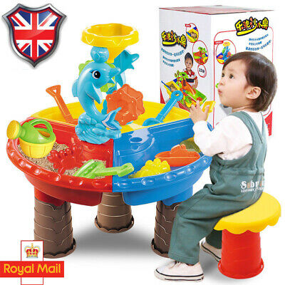 Sand and Water Table Sandpit Indoor Outdoor Beach Kids Children Play Toy New