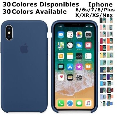 Funda LOGO SILICONA Genuina Original Apple IPHONE 6 6s 7 8 plus X XR XS Max