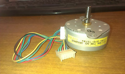NMB STARPOINT REEL MOTOR 12V 30Ω OHM PM55L-048 (SRA2 or SRB3 etc) WORKING