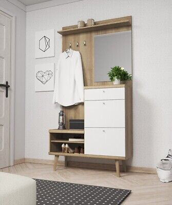 BMF STELLA 3 MODERN HALLWAY FURNITURE SET 135CM WIDE MIRROR