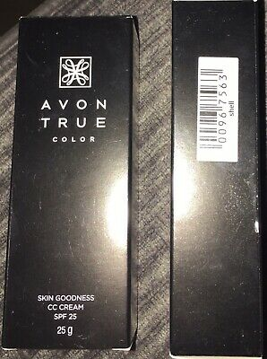 Avon 2 x True Color Skin Goodness CC Cream SPF 25 25g in 'Shell'