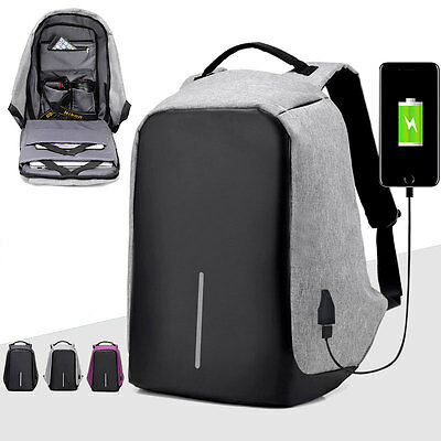 Anti-Theft Laptop Backpack WaterProof  USB Port XD Bobby Travel Sport Bag