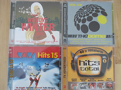 4 CD`s , CD Sammlung, Sampler ...Viva Hits, The Dome, Hits Total, We love Winter