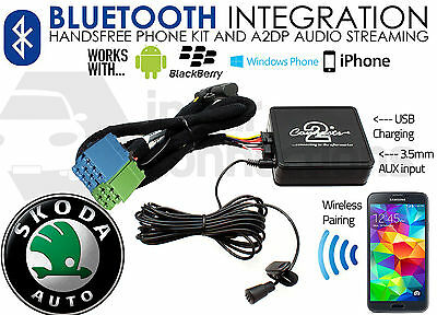 CTASKBT001 Skoda Octavia Bluetooth music streaming adapter handsfree calls AUX